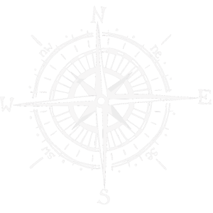 Weißer Kompass