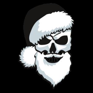 black santa skull Weihnachtsmann