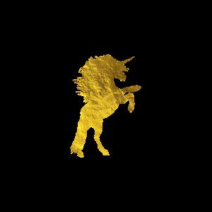 Goldenes Einhorn Unicorn Gecshenk Pferd