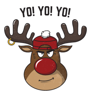 Cool Gangsta Rudolph Yo Yo Yo Weihnachtsgeschenk