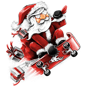 Santa Skateboarding