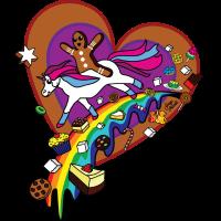 Zucker Einhorn Lebkuchenmann Regenbogen