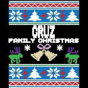 Hässliche Cruz Weihnachtsfamilien-Ferien Tshirt