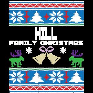 Hässliche Hügel-Weihnachtsfamilien-Ferien Tshirt