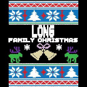 Hässliche lange Weihnachtsfamilien-Ferien Tshirt