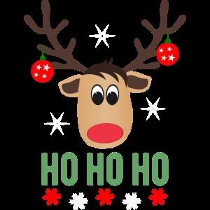 Rentier Weihnachtskugeln - Ho Ho Ho