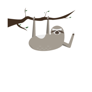 Faultier Slow Down Abhängen Chillen Design