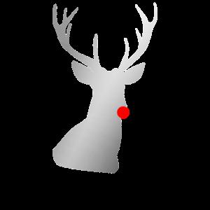 Distressed Reindeer - Rentier mit roter Nase