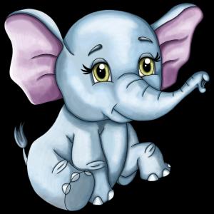Süßer glücklicher Elefant Baby