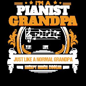 Pianist-Großvater-Hemd-Geschenk-Idee