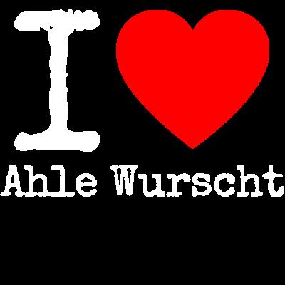 I love Ahle Wurscht - Ein Muss für jeden Fan der einzigartigen Ahlen Wurscht. Wenn du aus Nordhessen kommst, ist dieses Design genau das richtige für dich. - Wurst,Wurscht,Worscht,Weggewergg,Weckewerk,Stracke,Runde,Nordhessen,Niederzwehren,Love,Kassel,I,Hessen,Herkules,Heart,Grüne Soße,Fulda,Bergpark,Baunatal,Ahle Wurscht,Ahle