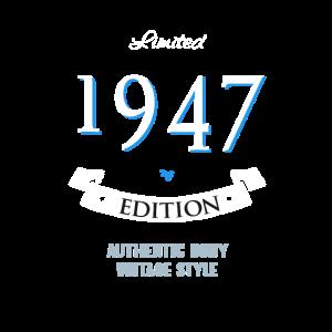 1947 Geburtstag Vintage