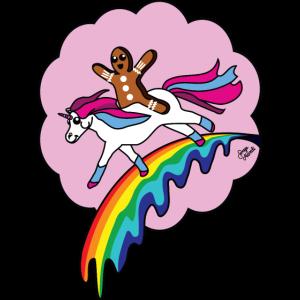 Einhorn Zuckerwatte Wolke Lebkuchenmann Regenbogen