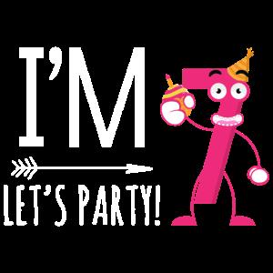 Ich bin sieben. Lass uns Party machen! Siebter Geburtstag Gift.Kids