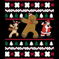 Ugly Sweater Cookieman Reindeer Santa Geschenk