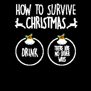 Weihnachten lustig Feiertage Geschenk Saufen