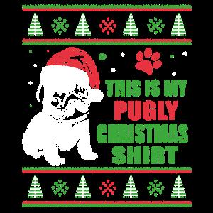 Mops Hässliches Weihnachtshemd