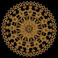 Tribal Mandala einfarbig by Sabina Elisabeth