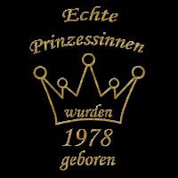 Prinzessinnen 1978 geboren 70. Geburtstag Geschenk