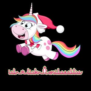 ich liebe weihnachten einhorn unicorn