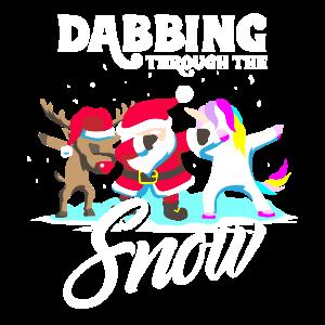 Dabbing Santa Dab Einhorn Rentier Weihnachten Geschenk