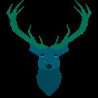 Deer blue Geometrie
