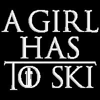 A Girl Has To Ski white