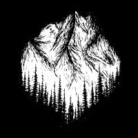 Berglandschaft Zeichnung
