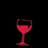 Runde als Ball der roten Wein