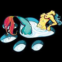 Freche katzenartige Meerjungfrau