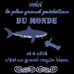 Grand requin blanc et homme prédateur