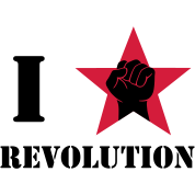 I Love / I Heart Revolution / fist in greeting red star