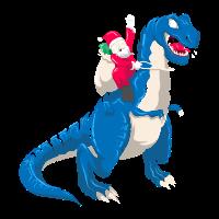 Santa T-Rex Dinosaurier Weihnachten Geschenk