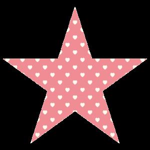Rosa Stern mit Herzen