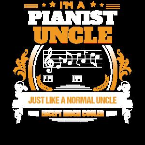 Pianist Onkel Shirt Geschenkidee