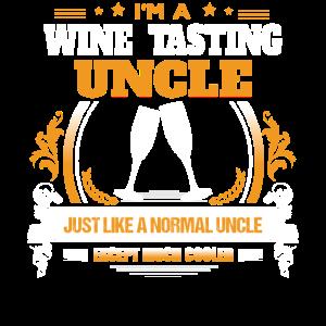 Weinprobe Onkel Shirt Geschenkidee