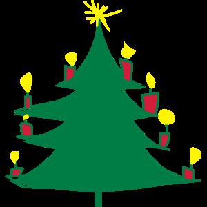 Weihnachtsbaum_mit_Kerzen