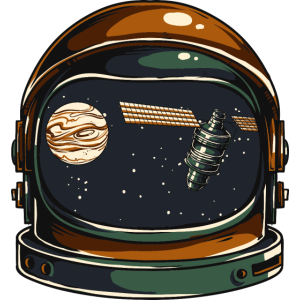 PLANET AUSTRONAUT - Kosmonauten Shirt Present Gift