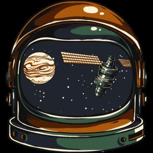 SATELLIT AUSTRONAUT - Kosmonauten Shirt Geschenk