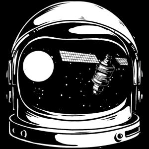 PLANET SATELLITE - Astronaut Kosmonaut Shirt Motiv