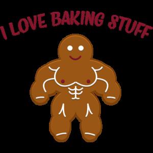 Lustiges Weihnachtsbäckerei-Muskel-Lebkuchen-Mann-Geschenk