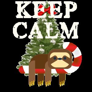 KEEP CALM Weihnachten Faultier