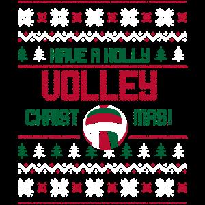 Volleyball Ugly Sweater Geschenk Weihanchten