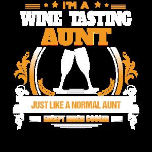 Weinprobe Tante Shirt Geschenkidee