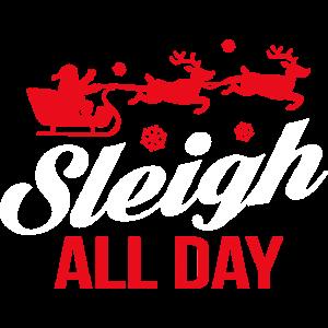 Sleigh All Day Santa Claus Rentiere Rudolph