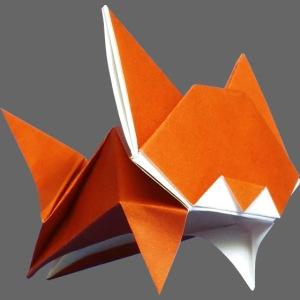 Jumping Origami Cat - Chat - Gato - Katze - Gatto