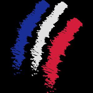 Vintage Flagge von Frankreich