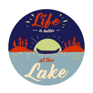 Life is better at the Lake Geschenk