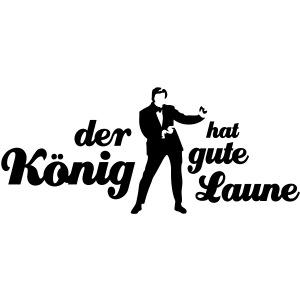 Der König hat gute Laune tanzen
