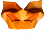 Origami Saber Toothed Tiger Mask - Tigre Origami